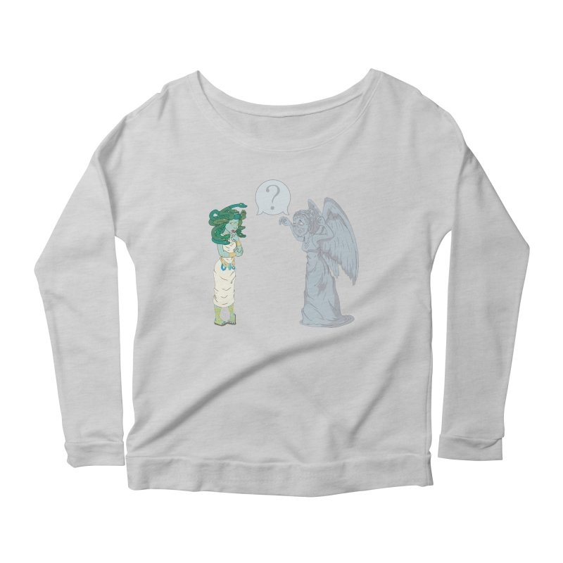 Medusa Vs. Weeping Angel Women's Longsleeve Scoopneck  by Inspired Human Artist Shop