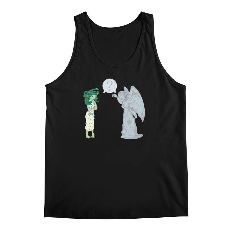 Medusa Vs. Weeping Angel Men's Tank by Inspired Human Artist Shop