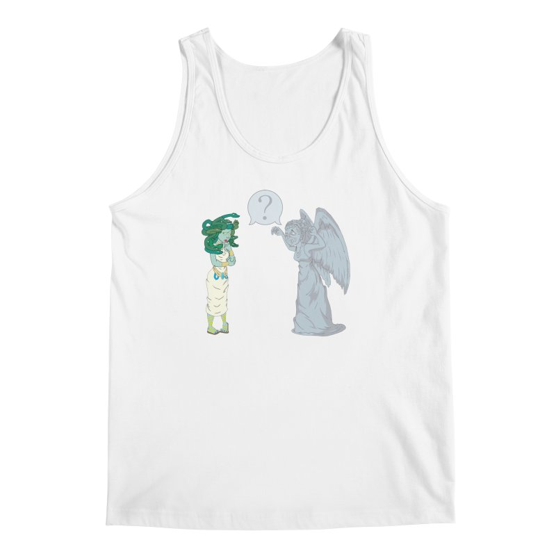 Medusa Vs. Weeping Angel Men's Tank by Inspired Human Artist Shop
