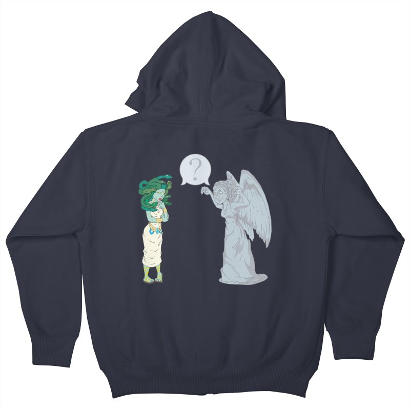 Medusa Vs. Weeping Angel Kids Zip-Up Hoody by Inspired Human Artist Shop