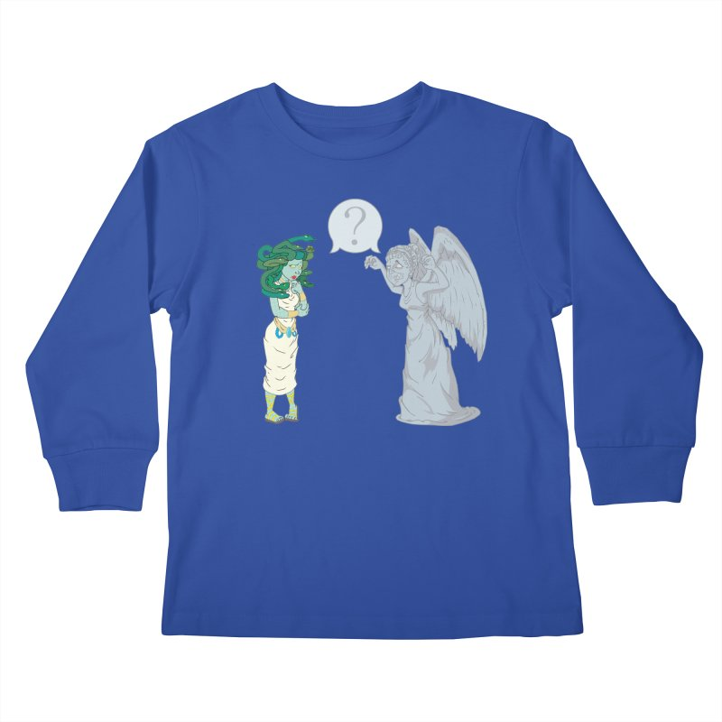 Medusa Vs. Weeping Angel Kids Longsleeve T-Shirt by Inspired Human Artist Shop