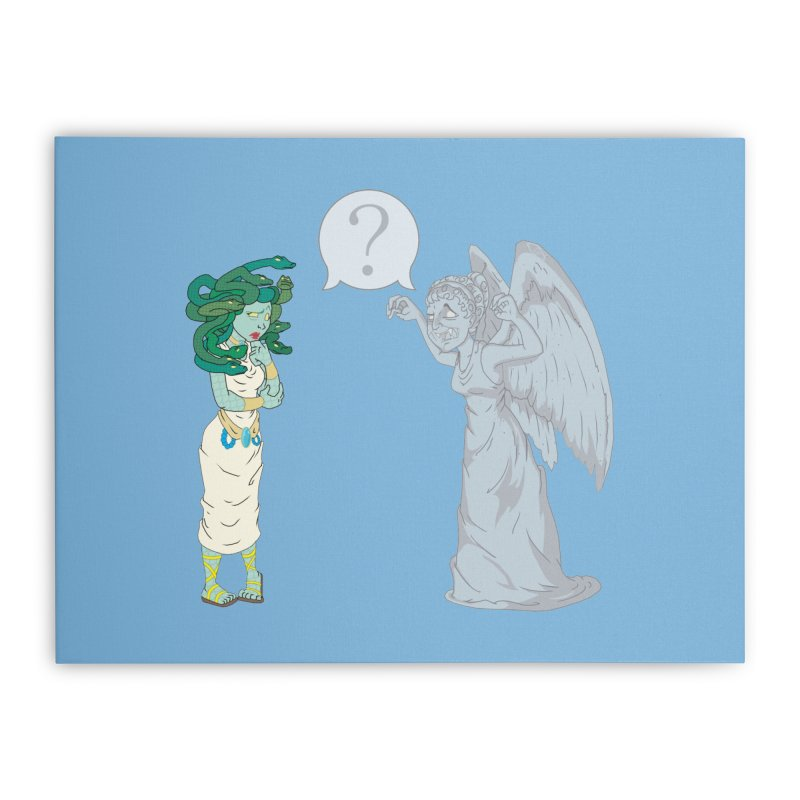 Medusa Vs. Weeping Angel Home Stretched Canvas by Inspired Human Artist Shop