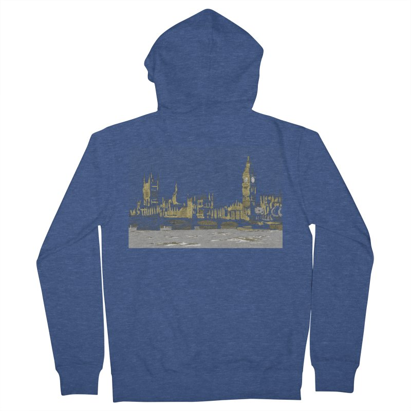 Sketchy Town Men's Zip-Up Hoody by Inspired Human Artist Shop