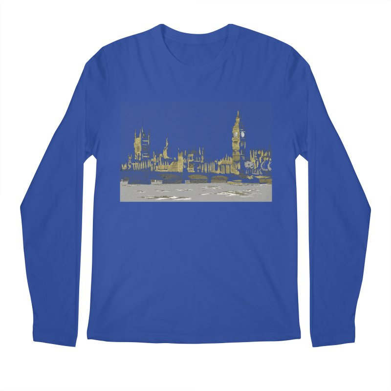 Sketchy Town Men's Longsleeve T-Shirt by Inspired Human Artist Shop