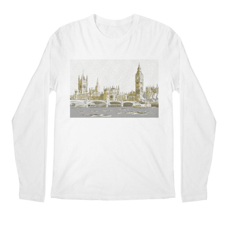 Sketchy Town Men's Longsleeve T-Shirt by Inspired Human Artist Shop