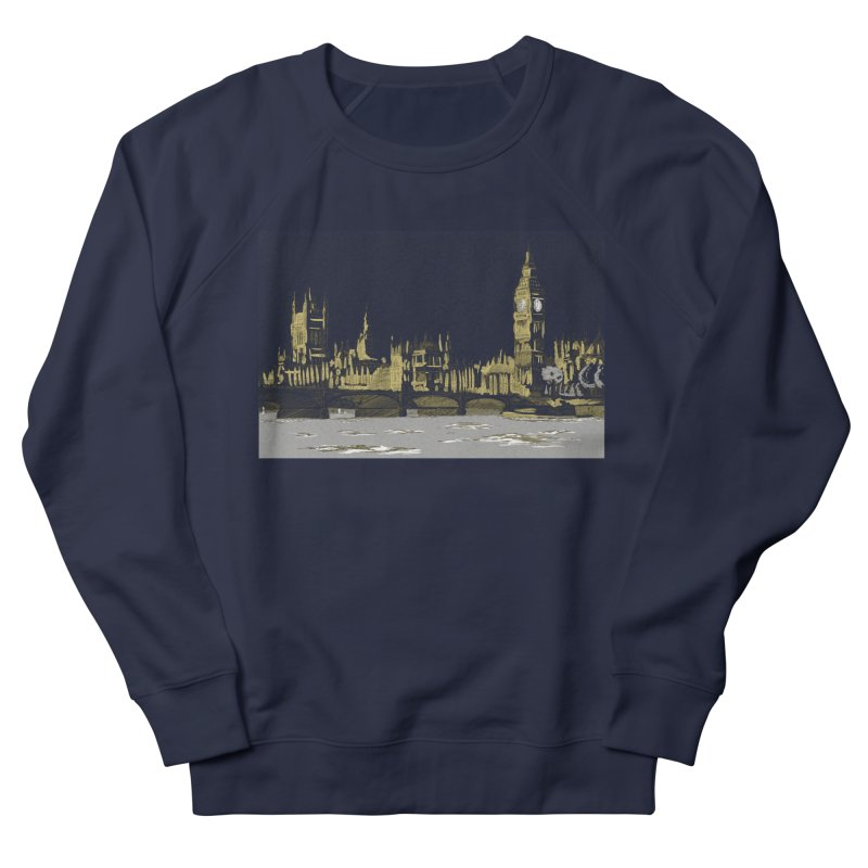 Sketchy Town Men's Sweatshirt by Inspired Human Artist Shop