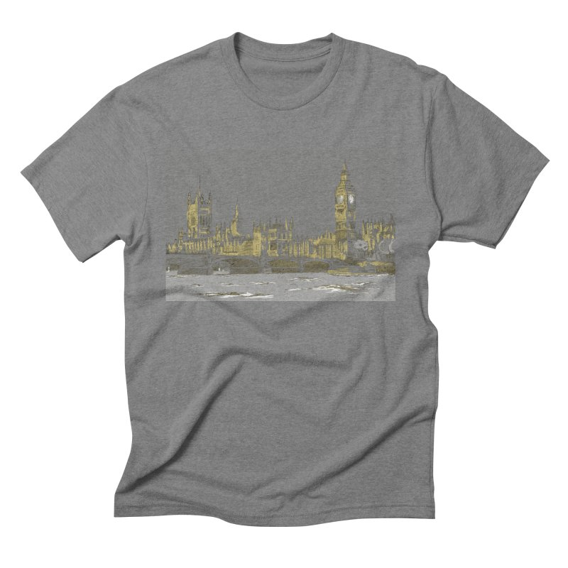 Sketchy Town Men's Triblend T-Shirt by Inspired Human Artist Shop