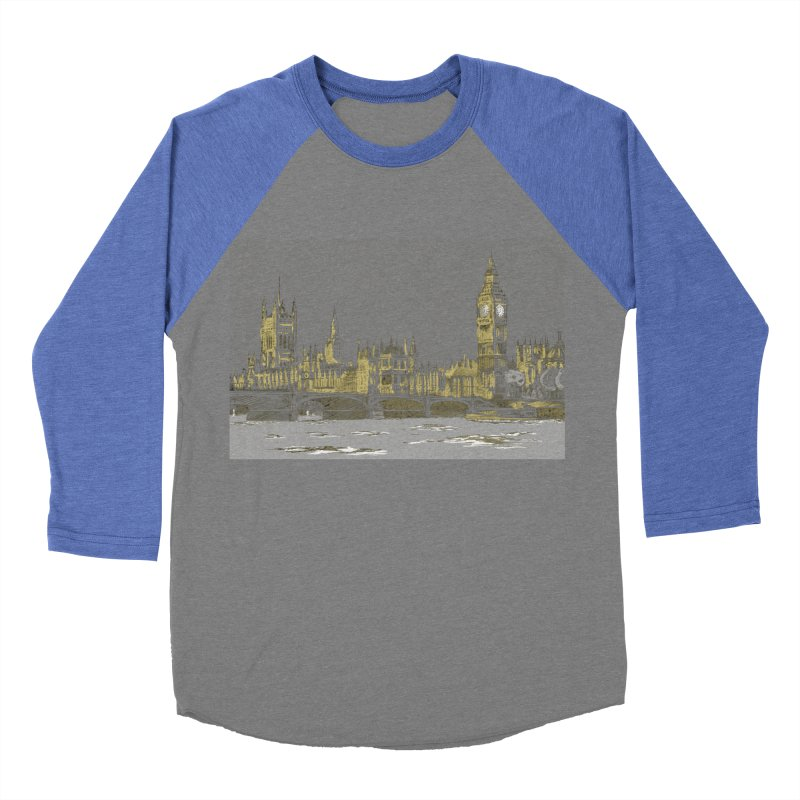 Sketchy Town Men's Baseball Triblend T-Shirt by Inspired Human Artist Shop