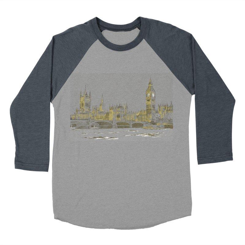 Sketchy Town Men's Baseball Triblend T-Shirt by Inspired Human Artist Shop