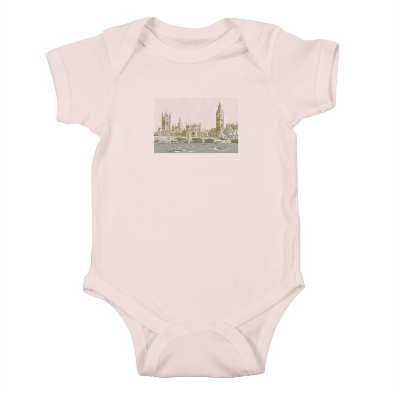 Sketchy Town Kids Baby Bodysuit by Inspired Human Artist Shop