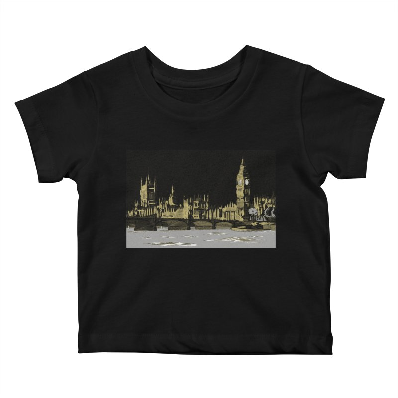 Sketchy Town Kids Baby T-Shirt by Inspired Human Artist Shop