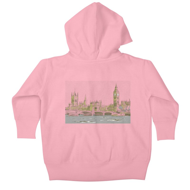 Sketchy Town Kids Baby Zip-Up Hoody by Inspired Human Artist Shop