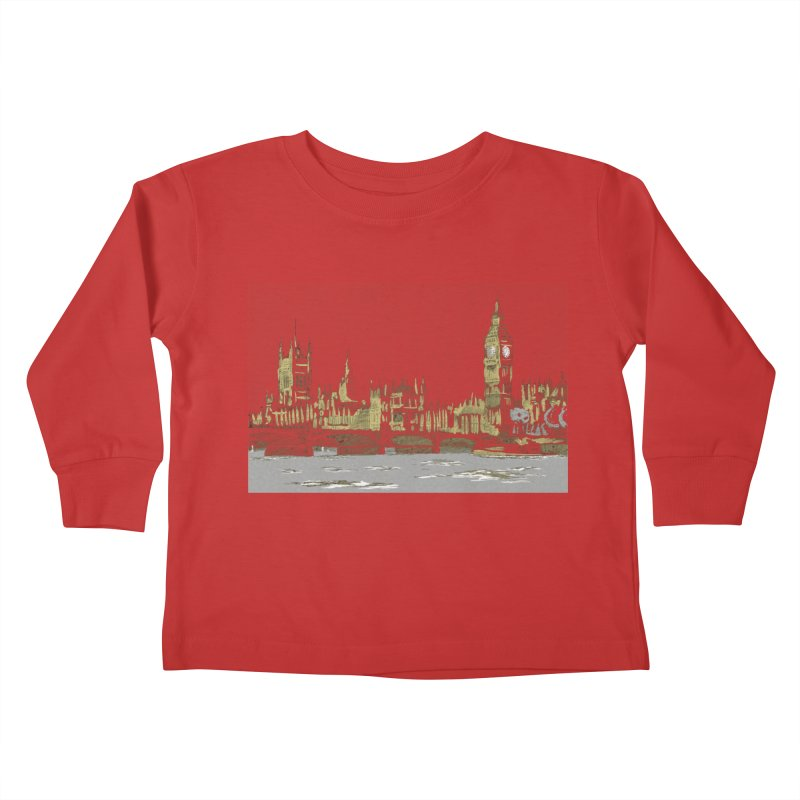 Sketchy Town Kids Toddler Longsleeve T-Shirt by Inspired Human Artist Shop