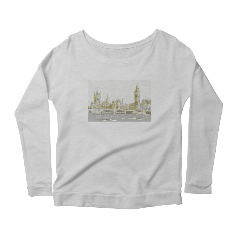 Sketchy Town Women's Longsleeve Scoopneck  by Inspired Human Artist Shop