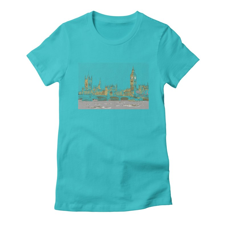 Sketchy Town Women's Fitted T-Shirt by Inspired Human Artist Shop