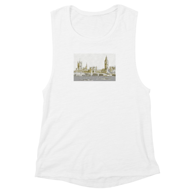 Sketchy Town Women's Muscle Tank by Inspired Human Artist Shop