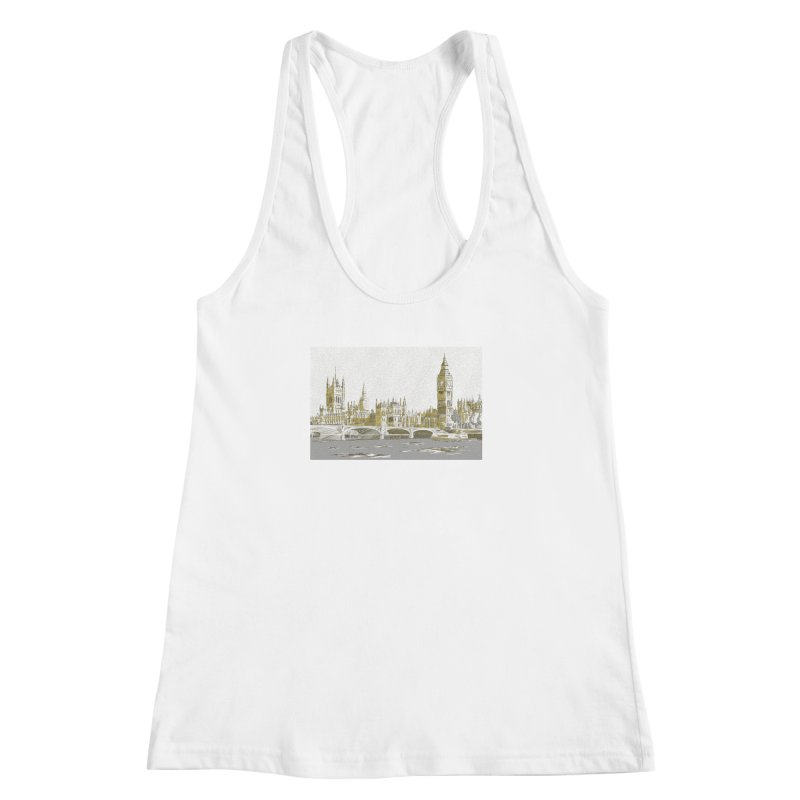 Sketchy Town Women's Racerback Tank by Inspired Human Artist Shop