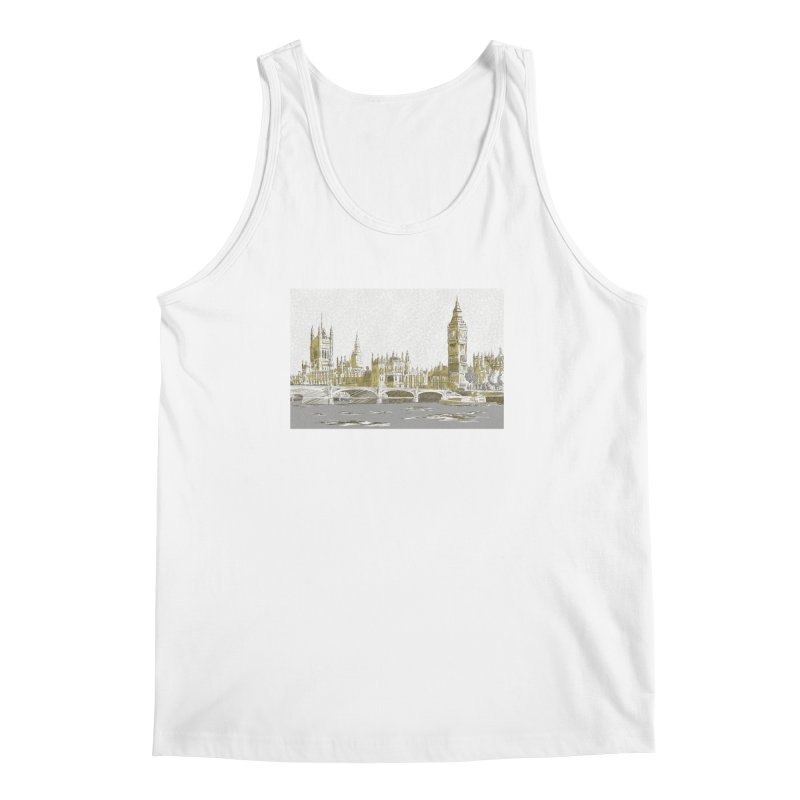 Sketchy Town Men's Tank by Inspired Human Artist Shop
