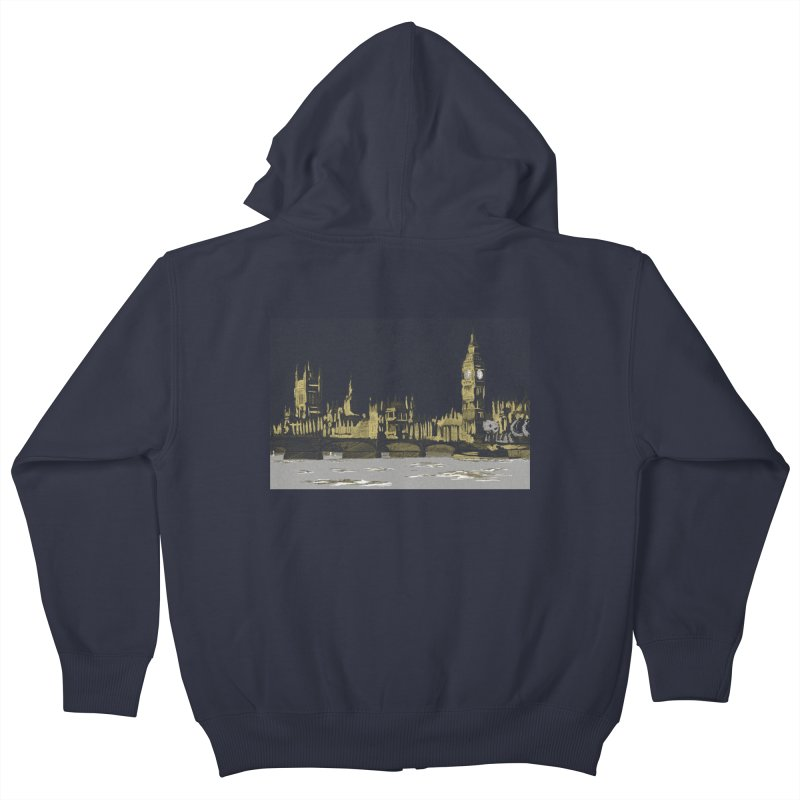 Sketchy Town Kids Zip-Up Hoody by Inspired Human Artist Shop