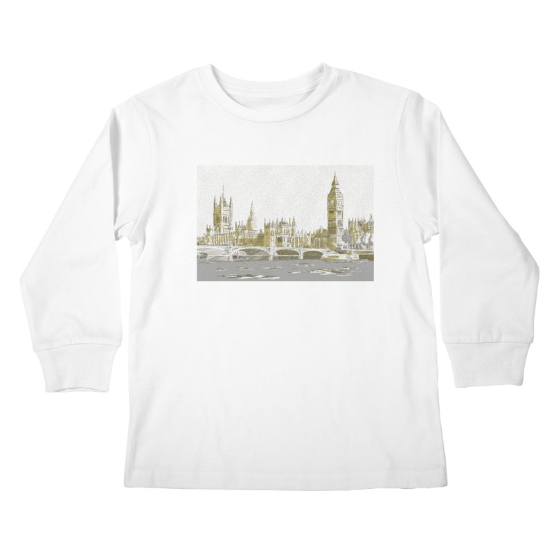 Sketchy Town Kids Longsleeve T-Shirt by Inspired Human Artist Shop