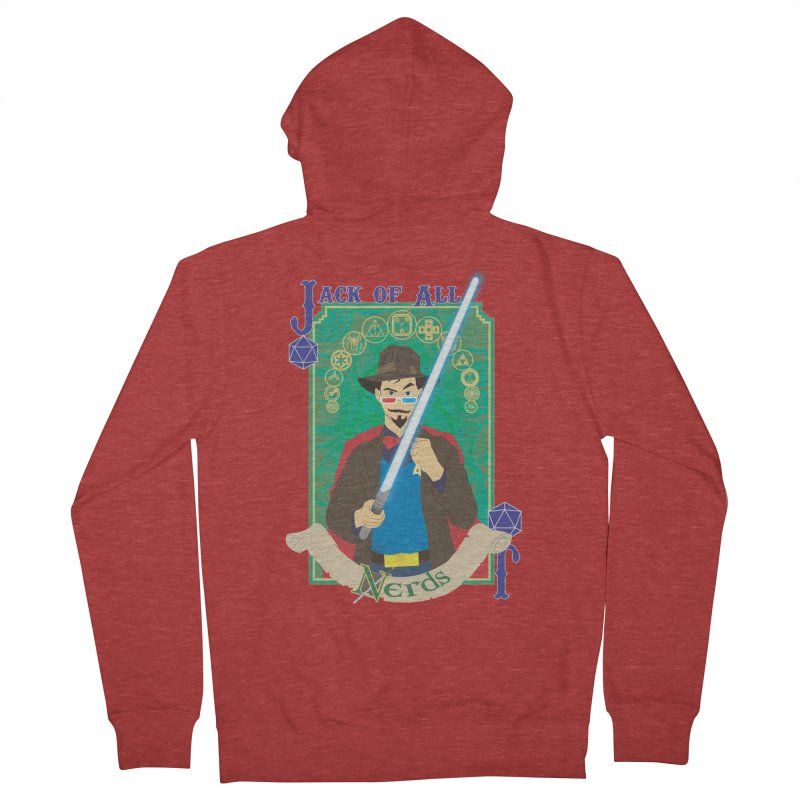 Jack of All Nerds Women's Zip-Up Hoody by Inspired Human Artist Shop