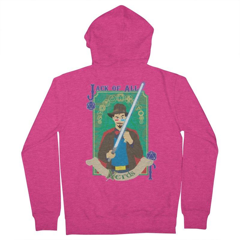 Jack of All Nerds Women's Zip-Up Hoody by Inspired Human Artist Shop