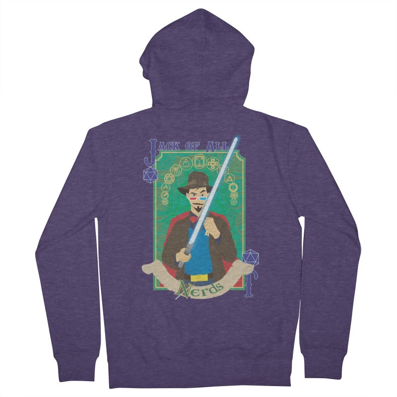 Jack of All Nerds Men's Zip-Up Hoody by Inspired Human Artist Shop