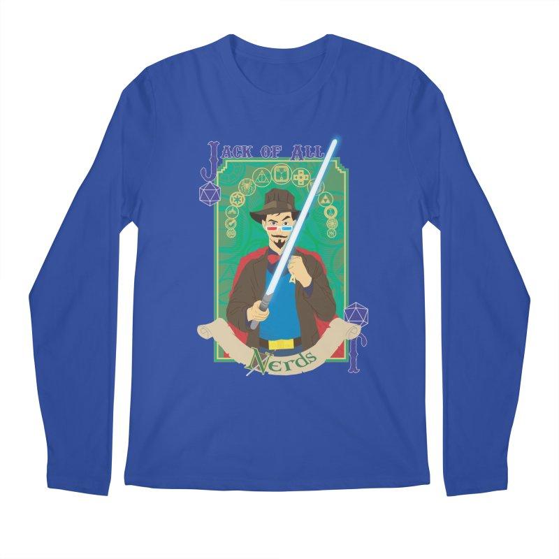 Jack of All Nerds Men's Longsleeve T-Shirt by Inspired Human Artist Shop