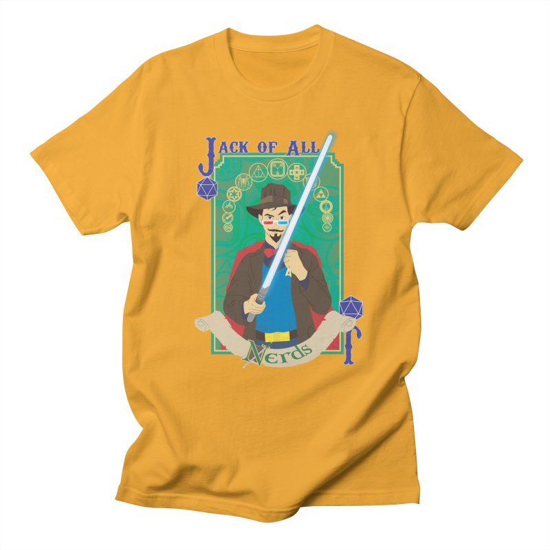 Jack of All Nerds Men's T-shirt by Inspired Human Artist Shop