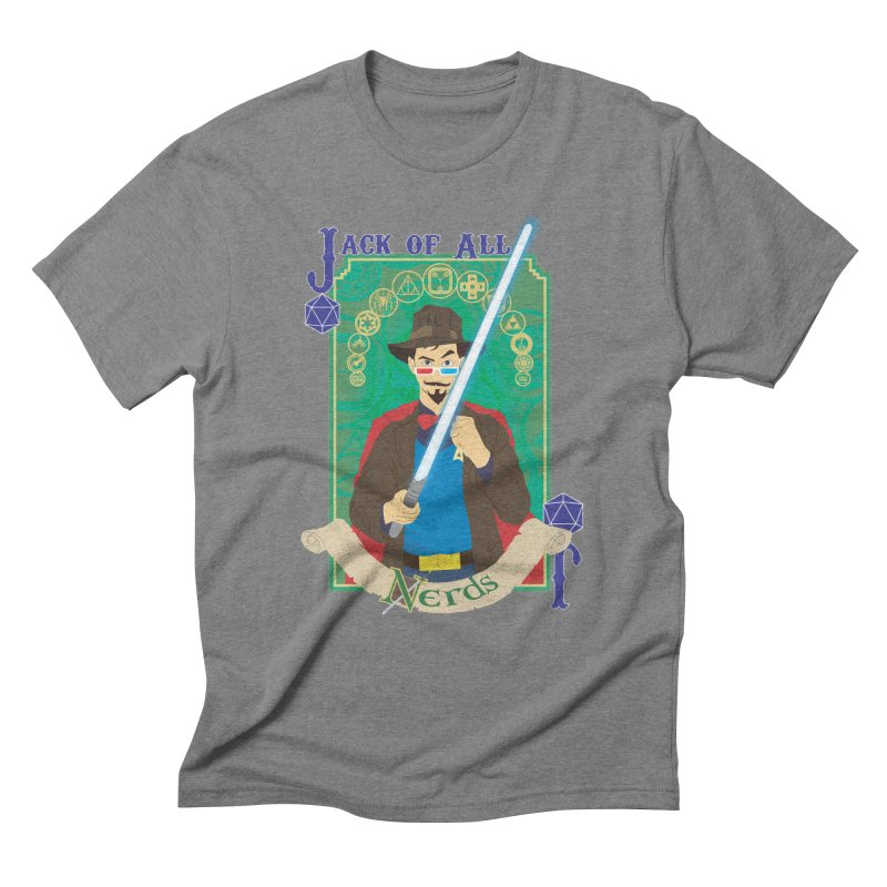 Jack of All Nerds Men's Triblend T-shirt by Inspired Human Artist Shop