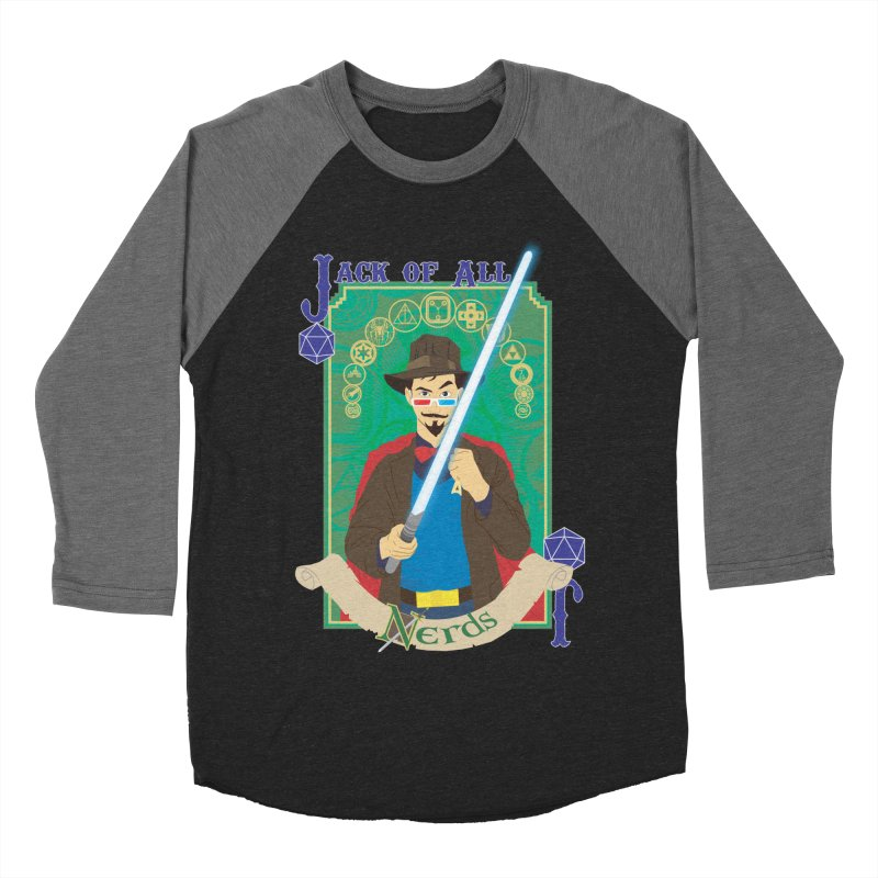 Jack of All Nerds Men's Baseball Triblend T-Shirt by Inspired Human Artist Shop