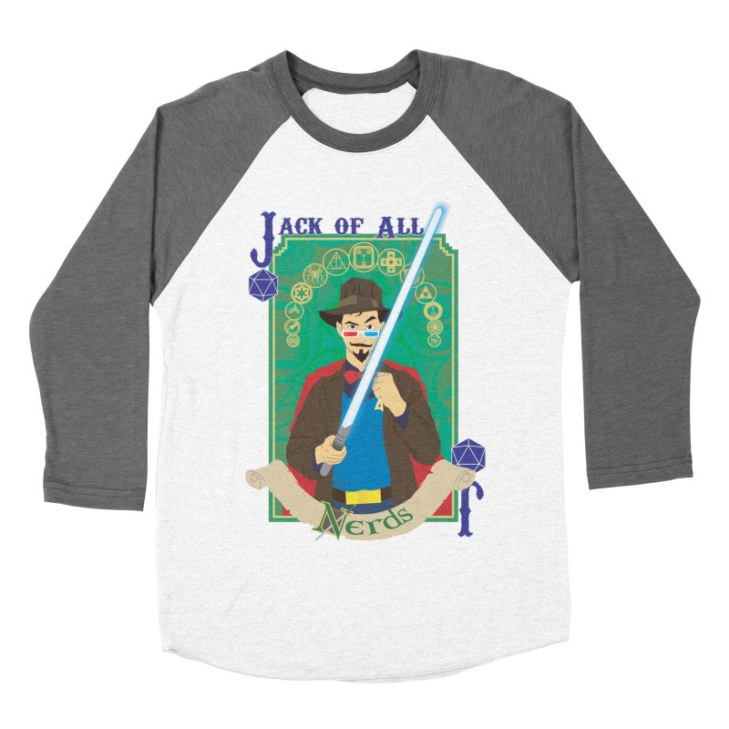 Jack of All Nerds Men's Baseball Triblend T-Shirt by Inspired Human Artist Shop
