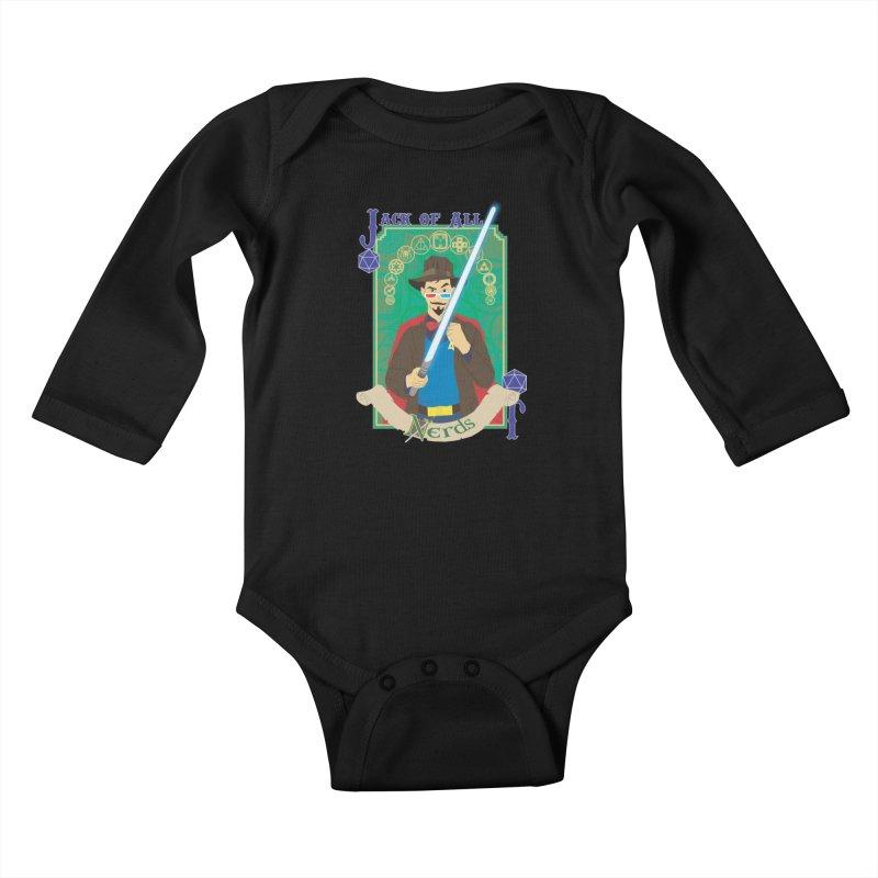 Jack of All Nerds Kids Baby Longsleeve Bodysuit by Inspired Human Artist Shop