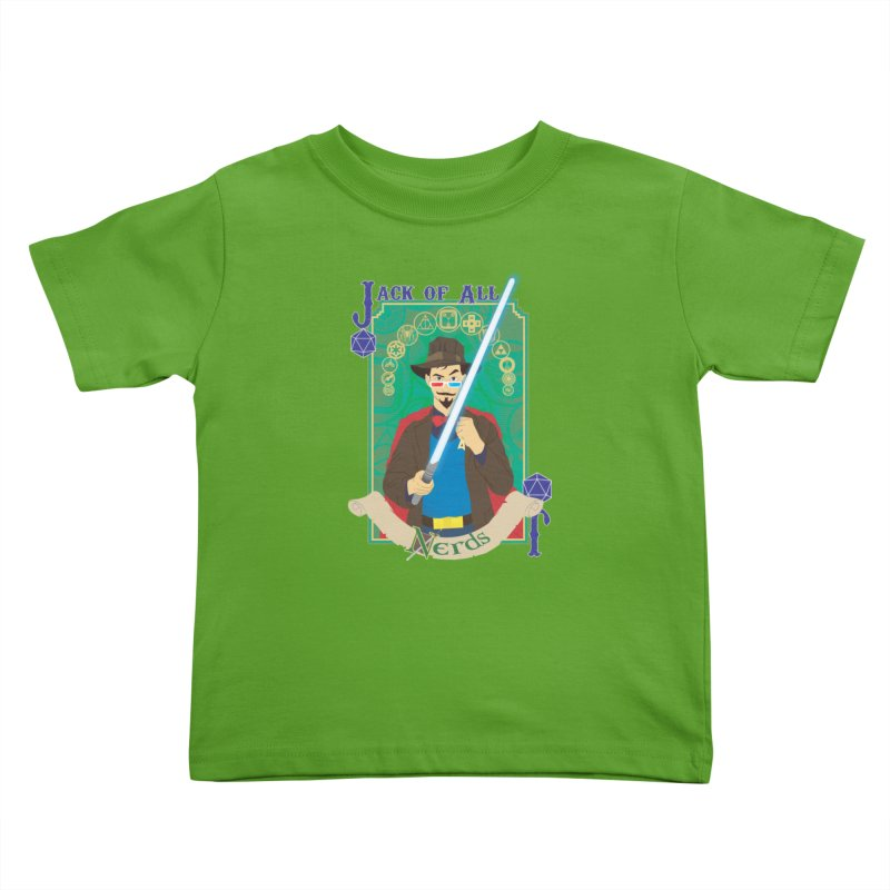 Jack of All Nerds Kids Toddler T-Shirt by Inspired Human Artist Shop