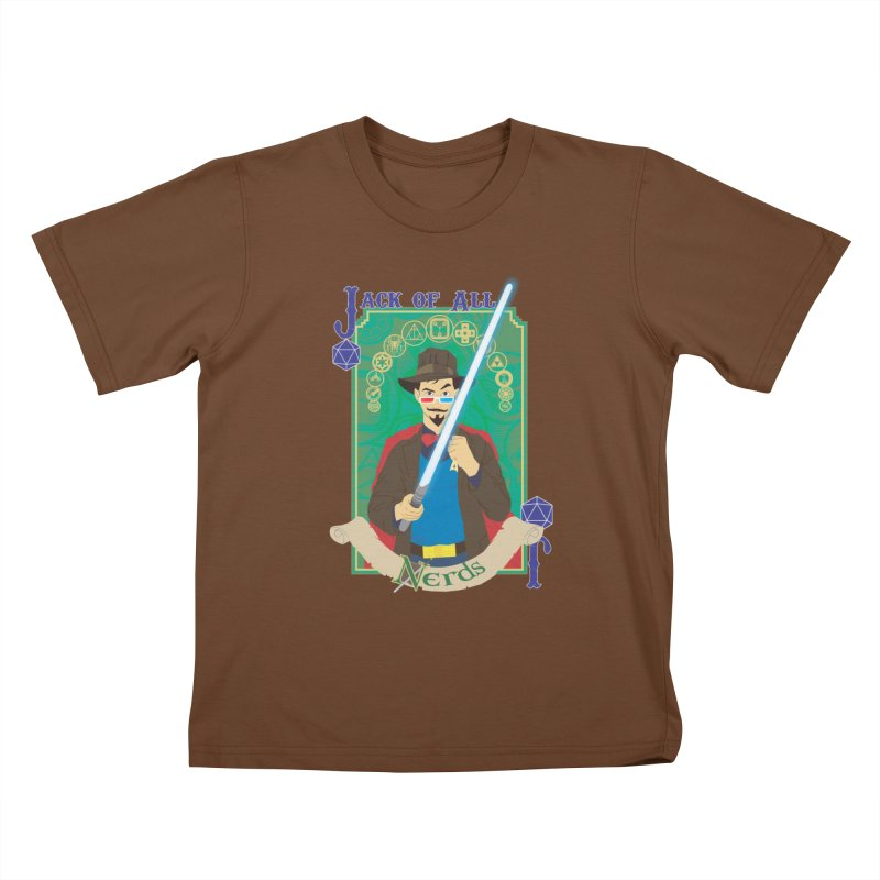 Jack of All Nerds Kids T-shirt by Inspired Human Artist Shop