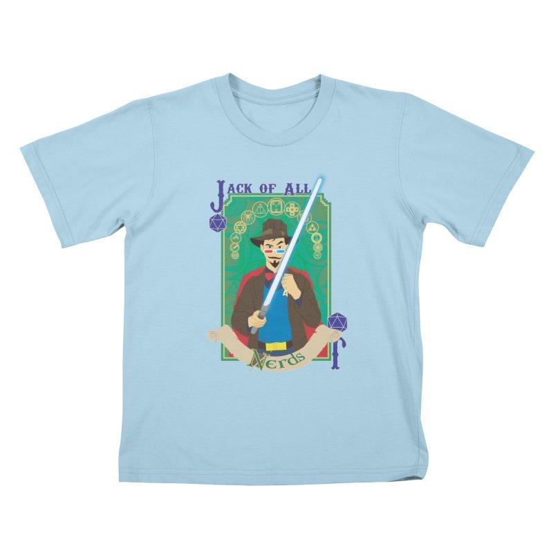 Jack of All Nerds Kids T-Shirt by Inspired Human Artist Shop