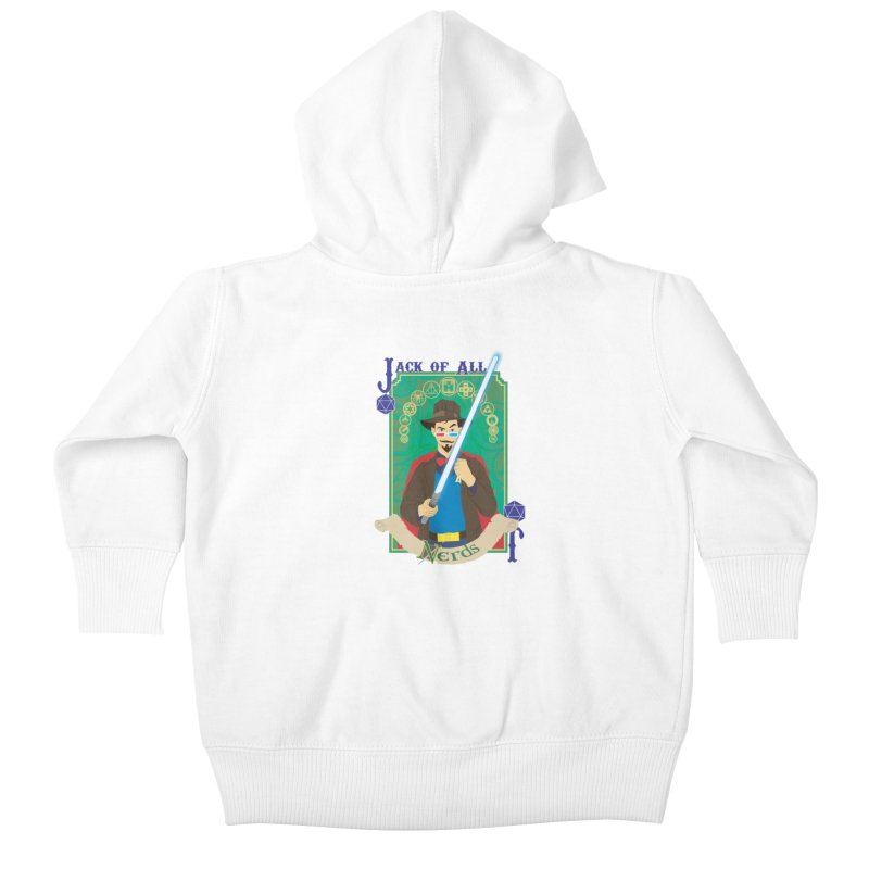 Jack of All Nerds Kids Baby Zip-Up Hoody by Inspired Human Artist Shop