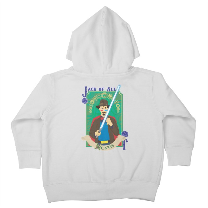 Jack of All Nerds Kids Toddler Zip-Up Hoody by Inspired Human Artist Shop