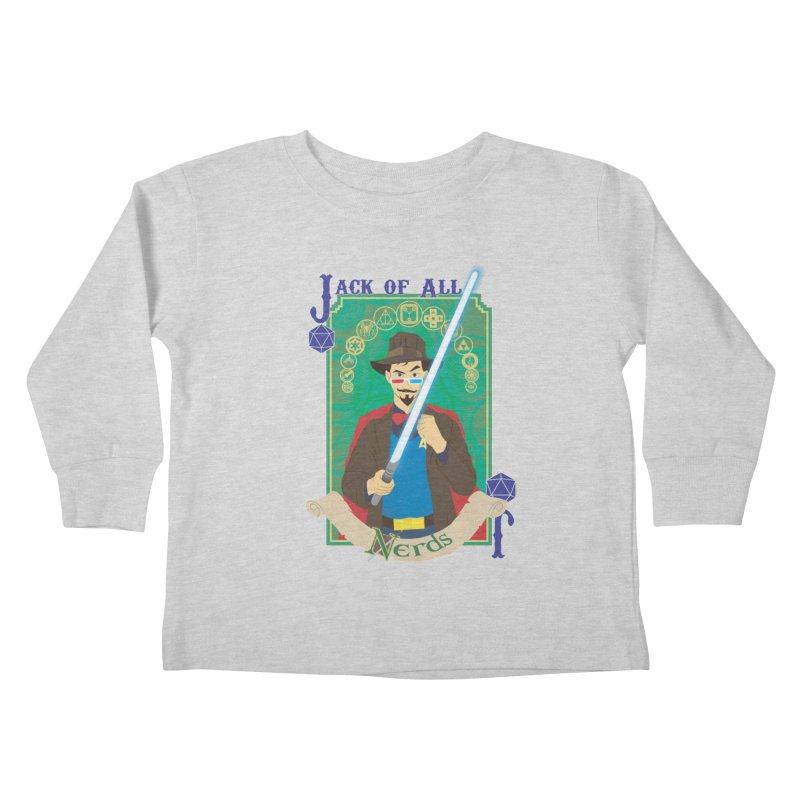 Jack of All Nerds Kids Toddler Longsleeve T-Shirt by Inspired Human Artist Shop