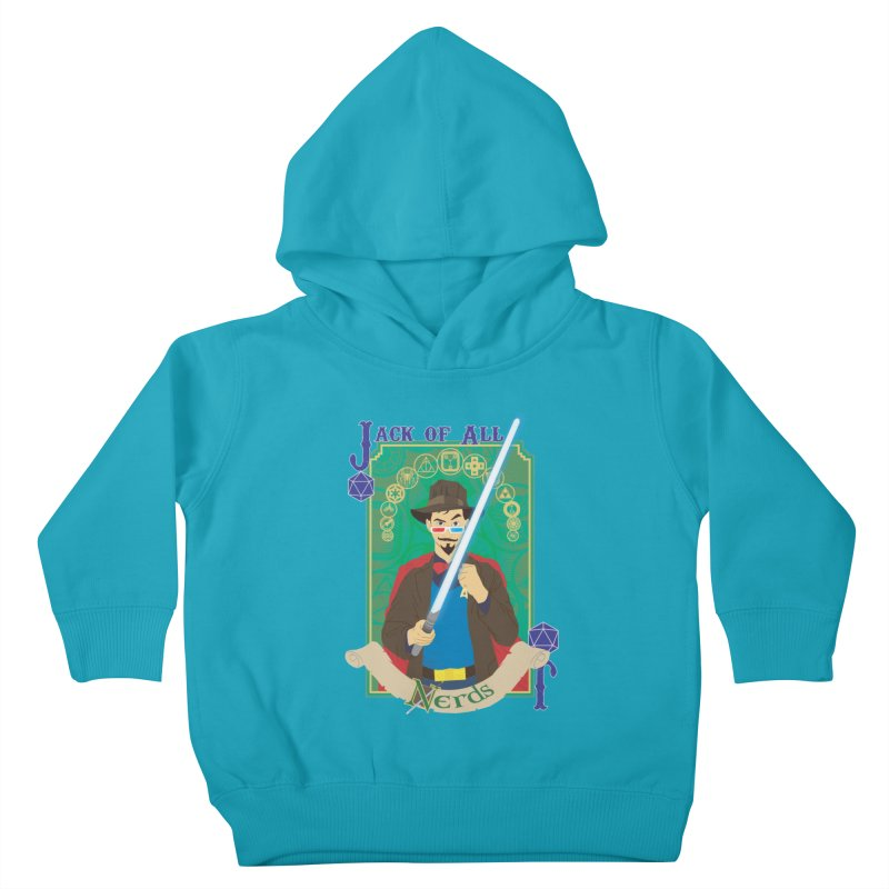 Jack of All Nerds Kids Toddler Pullover Hoody by Inspired Human Artist Shop