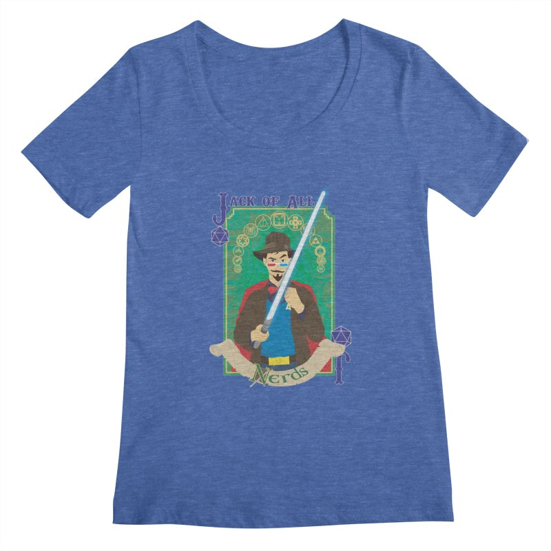 Jack of All Nerds Women's Scoopneck by Inspired Human Artist Shop