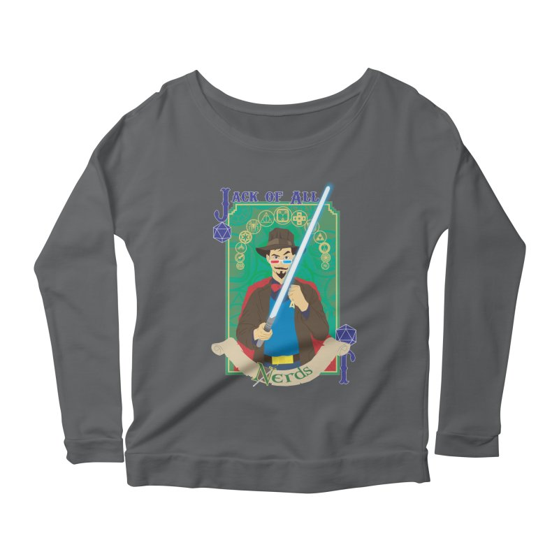 Jack of All Nerds Women's Longsleeve Scoopneck  by Inspired Human Artist Shop