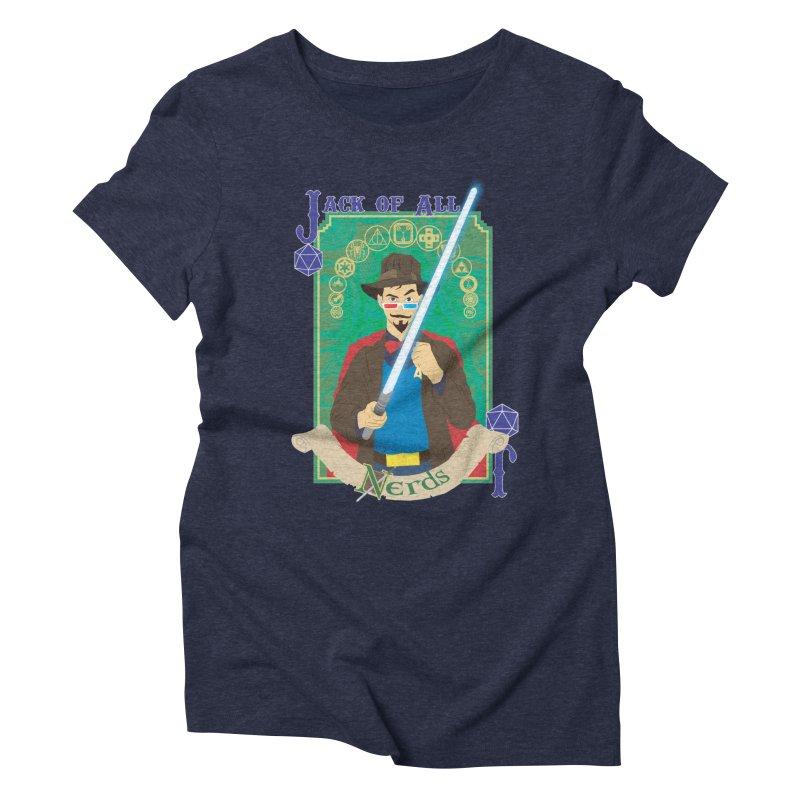 Jack of All Nerds Women's Triblend T-Shirt by Inspired Human Artist Shop