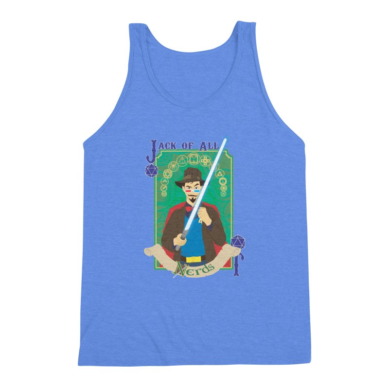 Jack of All Nerds Men's Triblend Tank by Inspired Human Artist Shop