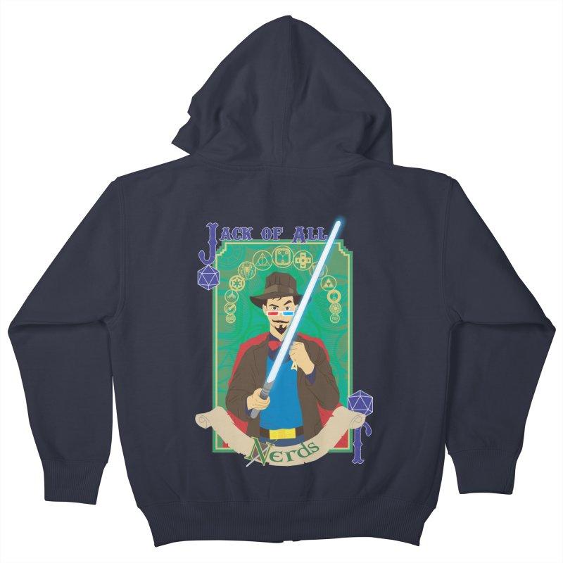 Jack of All Nerds Kids Zip-Up Hoody by Inspired Human Artist Shop