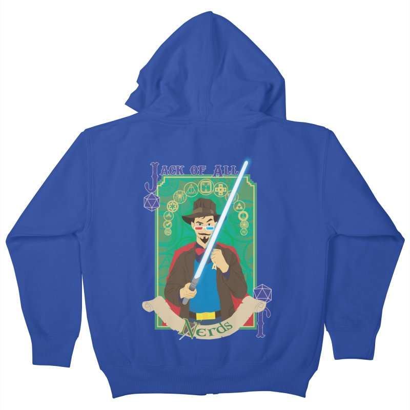 Jack of All Nerds Kids Zip-Up Hoody by Inspired Human Artist Shop