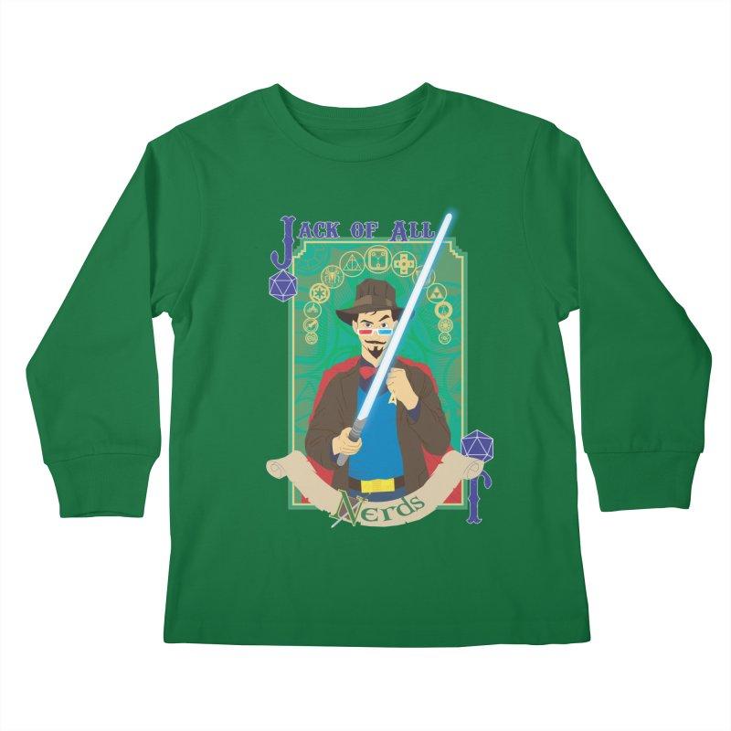 Jack of All Nerds Kids Longsleeve T-Shirt by Inspired Human Artist Shop