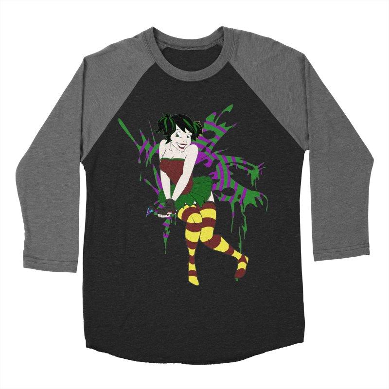 Artsy Fairy Women's Baseball Triblend T-Shirt by Inspired Human Artist Shop