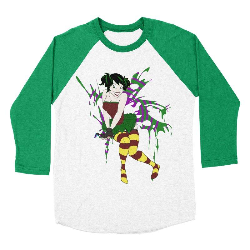 Artsy Fairy Men's Baseball Triblend T-Shirt by Inspired Human Artist Shop