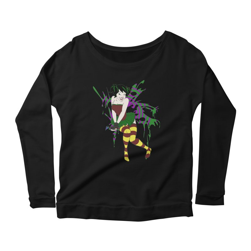 Artsy Fairy Women's Longsleeve Scoopneck  by Inspired Human Artist Shop